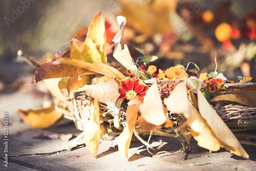 Autumn handmade thanksgiving wreath