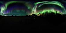 Polar Lights Over Lappland, Kiruna V, Sweden