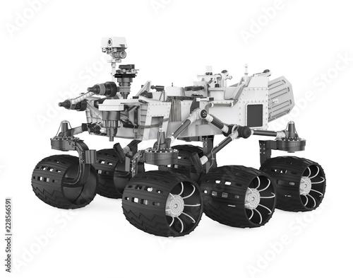Fotografía  Curiosity Rover Isolated