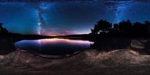 Milky Way Over Bar Harbor, Maine
