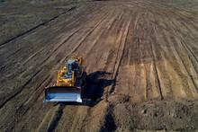 Dozer Clean The Construction Site