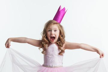 Beautiful little princess girl