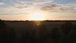 4K Drone aerial european nature sunrise sundown