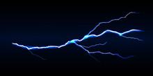 Blue Vector Lightning Bolt On ...