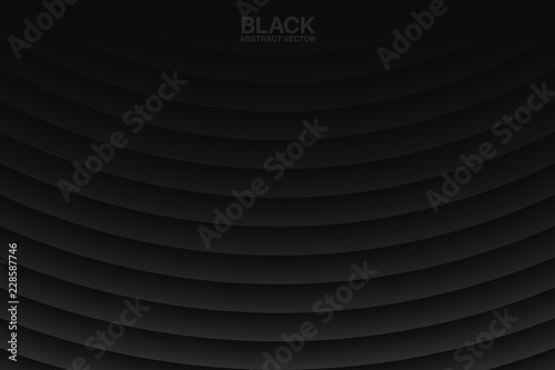 Clear Blank Black Subtle Geometrical Vector Abstract Background
