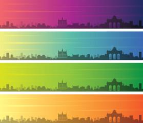 Fototapeta Brussels Multiple Color Gradient Skyline Banner