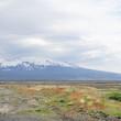 Berg-Landschaft auf der Fahrt ins isländische Hochland – Blick auf den Hekla / Süd-Island