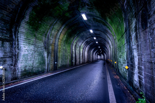 Dark scary tunnel Canvas Print