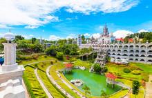 The Catholic Simala Shrine In Sibonga, Cebu, Philippines. Copy Space For Text.