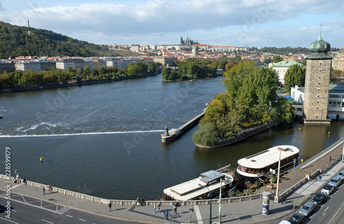 View of Prague from the Dancing House Wallpaper Mural