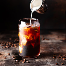 Cold Brew Iced Coffee In Glass...