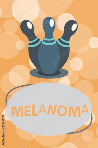 Vászonkép  Text sign showing Melanoma