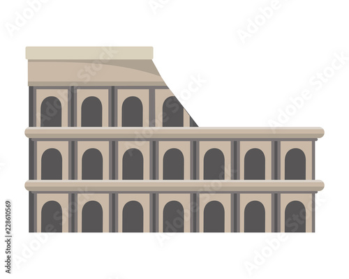 Fototapeta colosseum structure icon