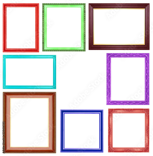 591cd69614b4 The collection colorful frames on the white background - Buy this ...