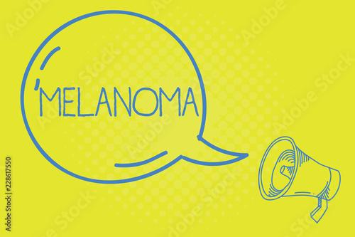 Fényképezés  Word writing text Melanoma