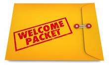 Welcome Packet Onboarding Introduction Information Envelope 3d Illustration