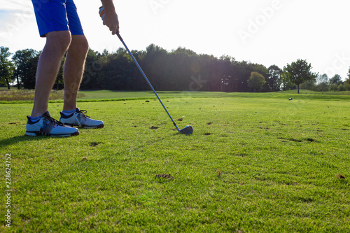 Poster Golf senior man playing golf