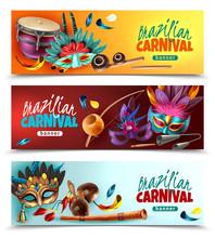 Brasil Carnaval Banners Set