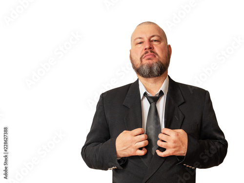 Respectable man demonstrates his superiority with an arrogant look Canvas Print
