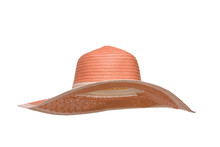 Soft Red Sun Hat Against White Background