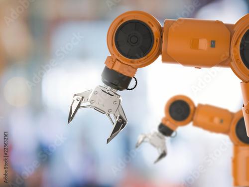 Fotografie, Obraz  orange robotic arm