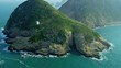Aerial View Coastal Islands nr Hong Kong