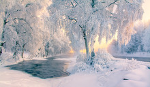 Snowy River View From Kuhmo, Finland.