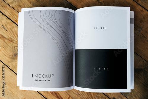 Obraz na plátně Wave texture magazine page mockup