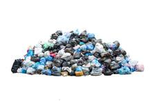 Big Pile Of Garbage In Black B...