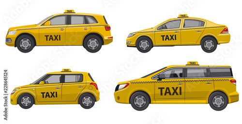 Photographie taxi service cars