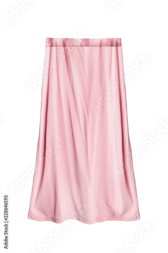 Fototapeta Pink skirt isolated