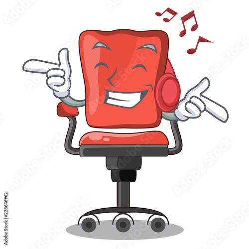 Enjoyable Listening Music Cartoon Desk Chair In Modern Living Room Bralicious Painted Fabric Chair Ideas Braliciousco