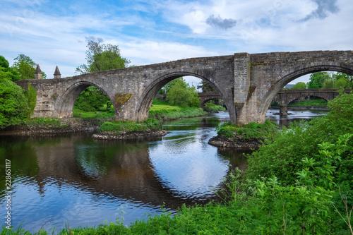 Poster Brug Die alte Brücke in Stirling/Schottland