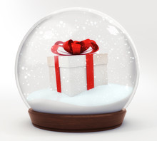 Gift Box Snowball Decoration I...