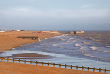 Hastings Beach On A Cold Winte...