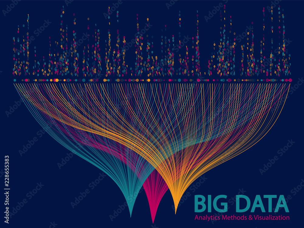 Fototapeta Big data visualization concept vector.