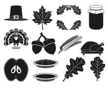 13 Black White Thanksgiving Si...