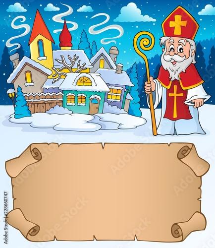 Small parchment and Saint Nicholas 1