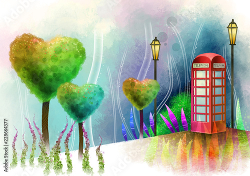 Fotografie, Obraz  Telephone booth