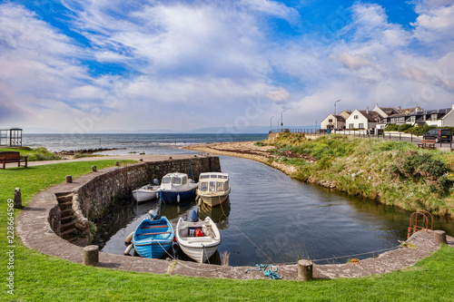 The harbour at Blackwaterfoot on the Island of Arran, North Ayrshire, Scotland Canvas Print