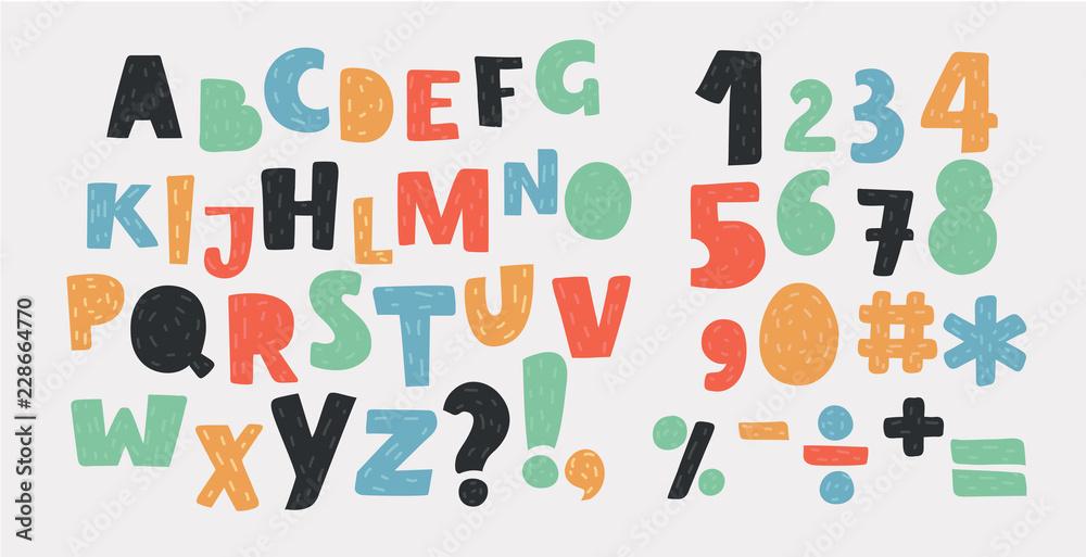Fototapeta Bright alphabet set.