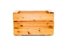 Wooden Large Box On White Isol...