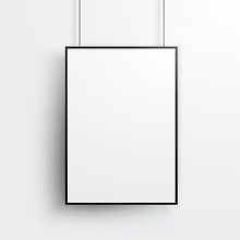 Vector White Poster With Black...