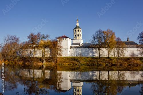 Foto  Ancient Pafnutevo-Borovsky Monastery in Borovsk, Russia - October 2018