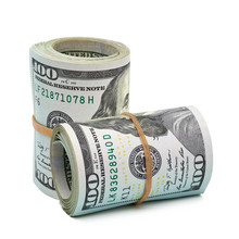 Rolled American Dollars Banknotes. Close Up Shot Isolated On White Background Including Clipping Path.