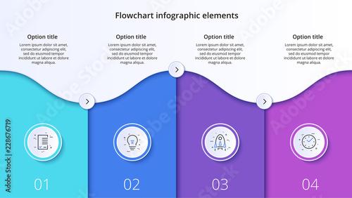 Business process chart infographics with 4 step segments Tapéta, Fotótapéta