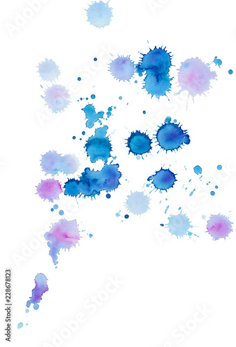 Photo Stands Floral woman Abstract bright colorful watercolor background with spots.