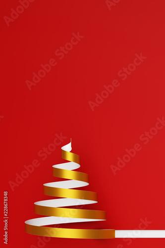 Fotografía  Weihnachtskarte zu Weihnachten mit Weihnachtsbaum