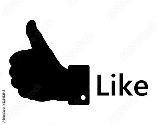 Obraz na plátně Handzeichen auf weiss