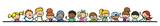 Gruppe Kinder hält Trennlinie für Header